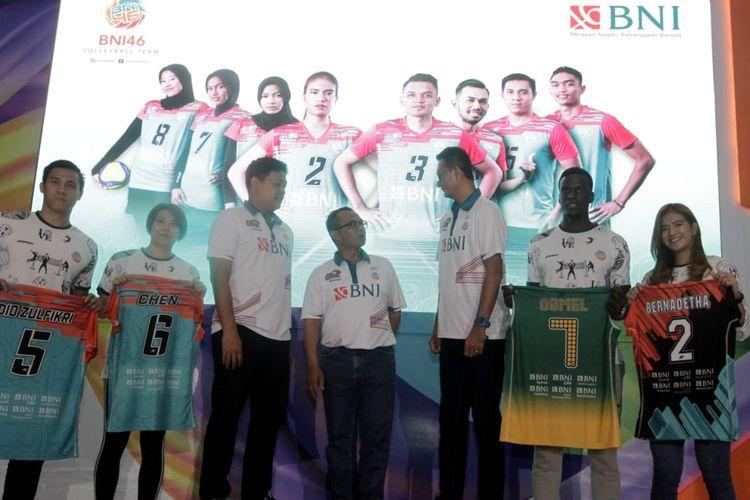 Tim bola voli Jakarta BNI 46 resmi memperkenalkan skuad putra dan putri mereka untuk Proliga 2020.