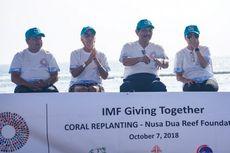 Bos IMF, Sri Mulyani, Luhut, dan Gubernur BI Tanam Terumbu Karang di Bali