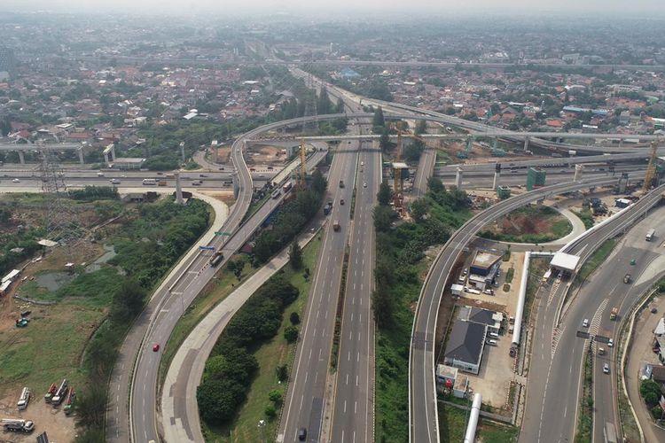 Ilustrasi ruas jalan tol di Jakarta