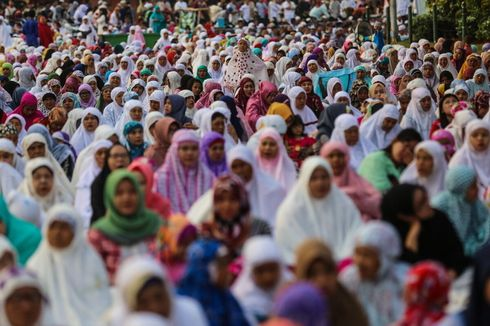 Terapkan Protokol Kesehatan, Jemaah Shalat Idul Fitri di Bekasi Diberi Jarak 1,5 Meter
