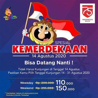 Promo tiket Dufan pada momen 17 Agustus 2020