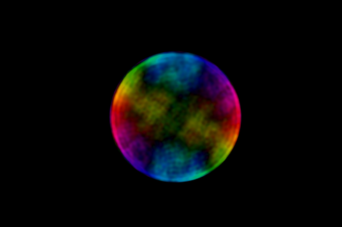Penampakan Bulan dengan Warna Pelangi, Gambar Aneh tapi Nyata