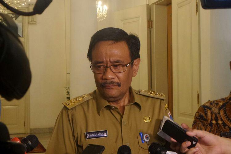 Gubernur DKI Jakarta Djarot Saiful Hidayat di Balai Kota DKI Jakarta, Jalan Medan Merdeka Selatan, Senin (18/9/2017).
