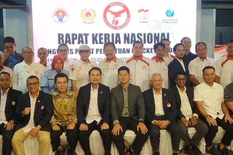 Pengurus Pusat Persatuan Cricket Indonesia (PP PCI) menggelar Rapat Kerja Nasional (Rakernas) di Jakarta, pada 13-15 Maret 2020.