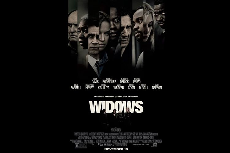 Film thriller Widows (2018) dibintangi Viola Davis, Liam Neeson, Elizabeth Debicki, Daniel Kaluuya, Colin Farrell, dan Michelle Rodriguez.