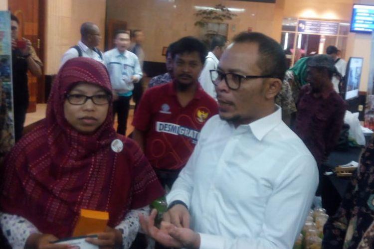 Menteri Ketenagakerjaan(Menaker), Muhammad Hanif Dhakiri di Hotel Bidakara, Jakarta, Selasa (8/1/2019).