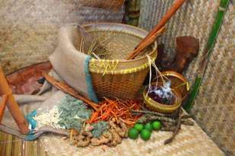 Jenis rempah dalam jamu Indonesia yang sangat beragam dengan berbagai khasiatnya.