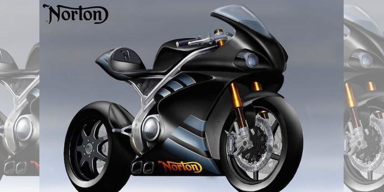 Superbike yang disiapkan Norton Motorcycles untuk bersaing di ajang balap.