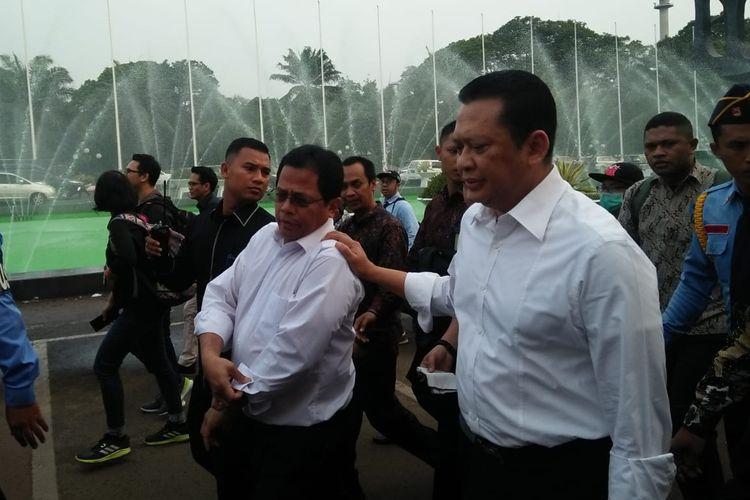 Ketua DPR RI Bambang Soesatyo, Selasa (24/9/2019), hendak menemui mahasiswa yang berunjuk rasa di depan Gedung MPR/DPR Senayan, Jakarta.