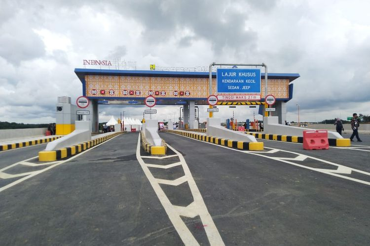 Pintu tol Samboja, Balikpapan – Samarinda, Selasa (17/12/2019).