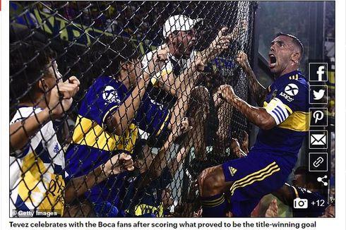 Ciuman Tevez kepada Maradona Jadi Keberuntungan Boca Juniors