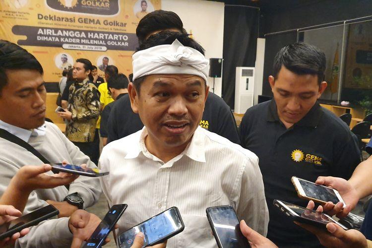 Ketua DPD Golkar Jabar Dedi Mulyadi saat ditemui di DPD Golkar DKI Jakarta, di Cikini, Jakarta Pusat, Rabu (31/7/2019).