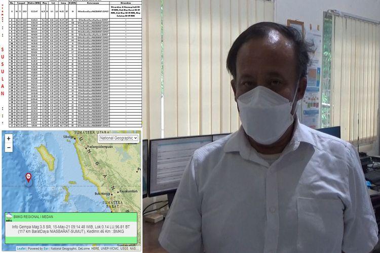BMKG Gunungsitoli menjelaskan gempa susulan dari gempa Nias Barat masih terjadi dan tercatat sebanyak 38 kali gempa susulan hingga Sabtu (15/05/2021) pukul 09.14 WIB.