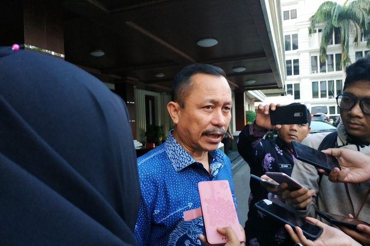 Ketua Komnas HAM, Ahmad Taufan Damanik di Kantor Kemenko-Polhukam, Jl Medan Merdeka Barat, Jakarta Pusat, Jumat (13/12/2019).
