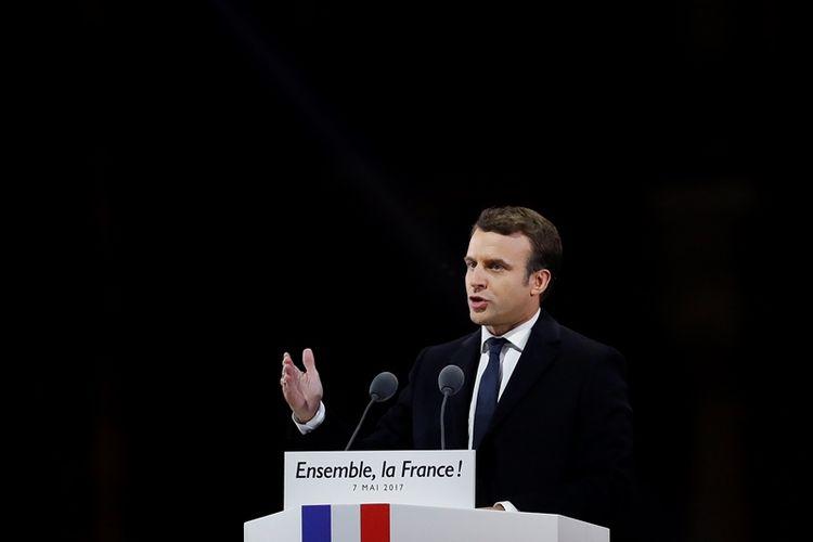 Presiden terpilih Perancis, Emmanuel Macron.