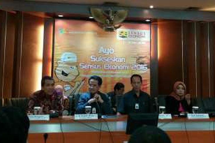 Rilis Indeks Perilaku Anti Korupsi (IPAK) di Kantor Badan Pusat Statistik, Jakarta, Senin (22/2/2016)