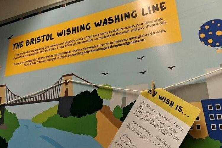 Program Wishing Washing Line yang ditujukan untuk mengabulkan keinginan para warga lanjut usia.