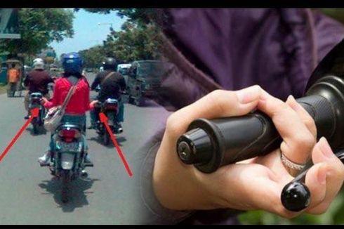Lagi Viral, Cara Salah Wanita Pegang Setang Motor