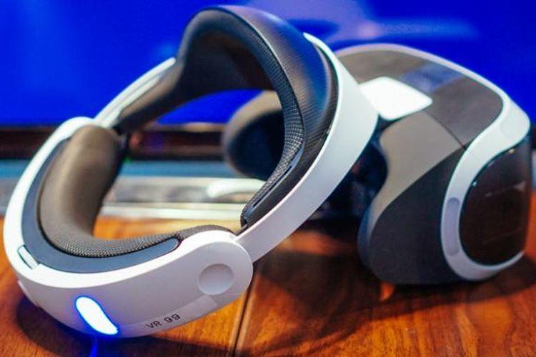 Salah satu unit PlayStation VR yang dipamerkan Sony dalam acara di Jakarta, Rabu (19/10/2016).