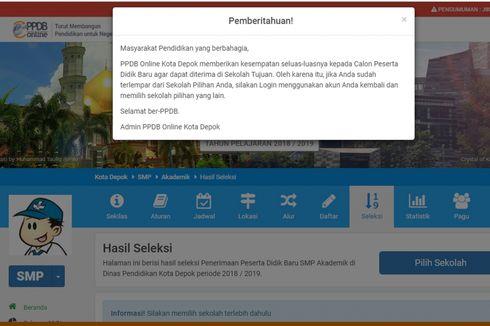 PPDB Depok 2020 Dipastikan Berlangsung Secara Online