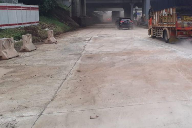 Rekonstruksi rigid pavement di SS Cikunir Jalan Tol Jakarta-Cikampek (Japek) tuntas pada Senin (22/2/2021) pukul 18.00 WIB.