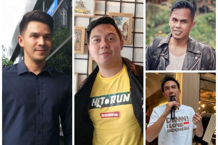 Kolase foto Jonathan Frizzy, Chandra Liow, Lord Adi, dan Daniel Mananta