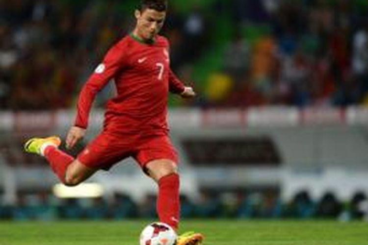 Pemain tim nasional Portugal, Cristiano Ronaldo.