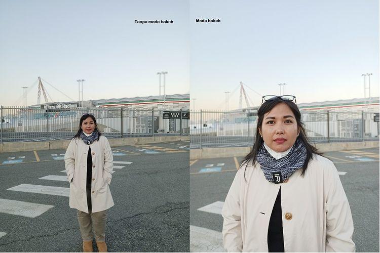 Perbandingan foto bokeh dan non bokdeh kamera belakang Oppo Reno3