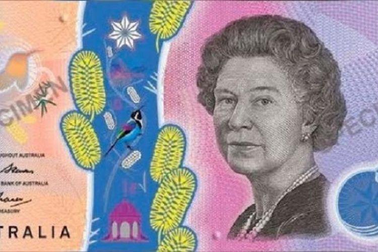 Uang kertas pecahan 5 dollar Australia