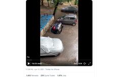 Video Viral Mobil Tiba-tiba Tenggelam Saat Parkir, Ini Penyebabnya