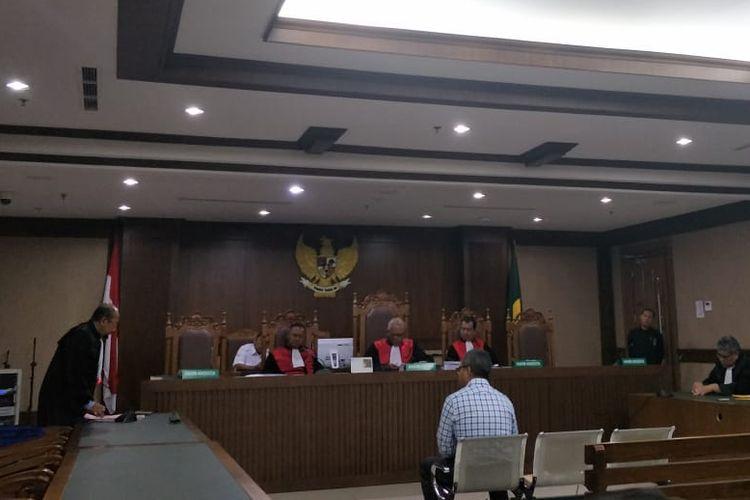 Desrizal Chaniago, pengacara Tomy Winata yang aniaya majelis hakim di PN Jakpus, Selasa (8/10/2019).