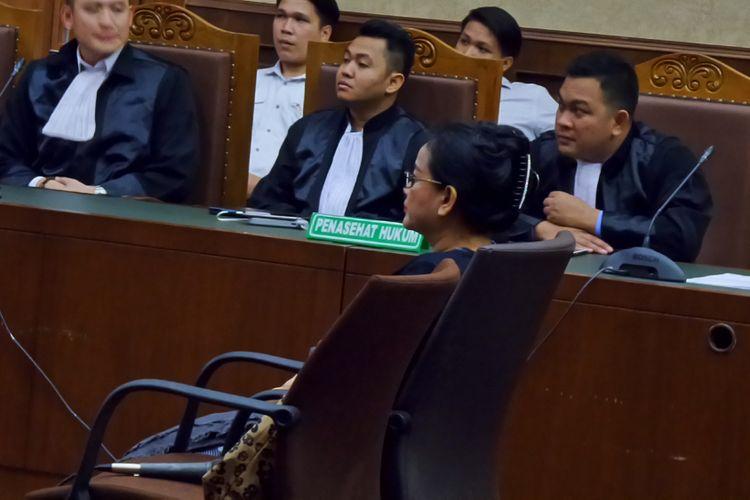 Miryam S Haryani saat menjalani sidang pembacaan putusan di Pengadilan Tipikor Jakarta, Senin (13/11/2017).