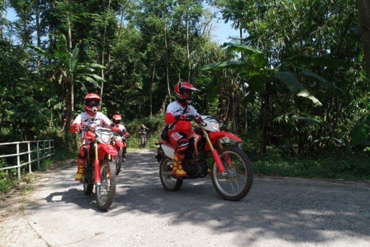 Kegiatan Terabas bersama Honda CRF150L