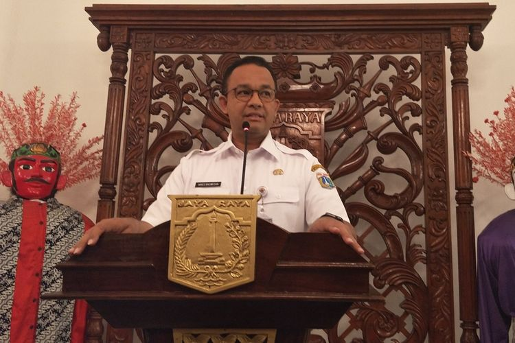 Gubernur DKI Jakarta Anies Baswedan di Balai Kota DKI Jakarta, Jalan Medan Merdeka Selatan, Kamis (26/9/2019).