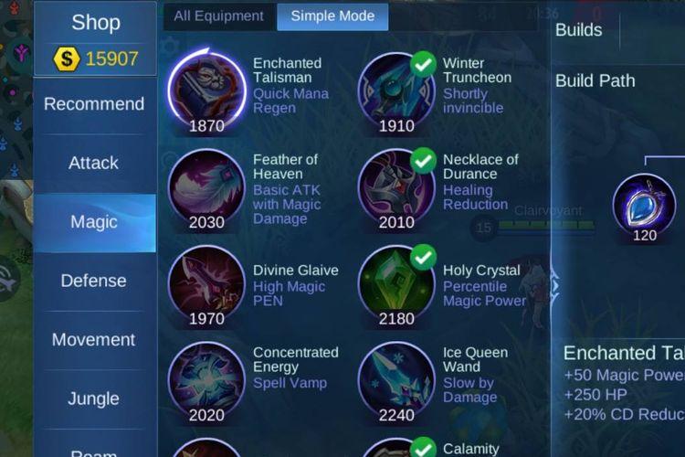 Ilustrasi artwork baru pada item di Mobile Legends