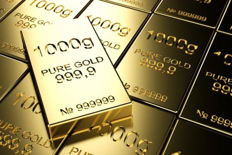Ilustrasi: harga emas naik