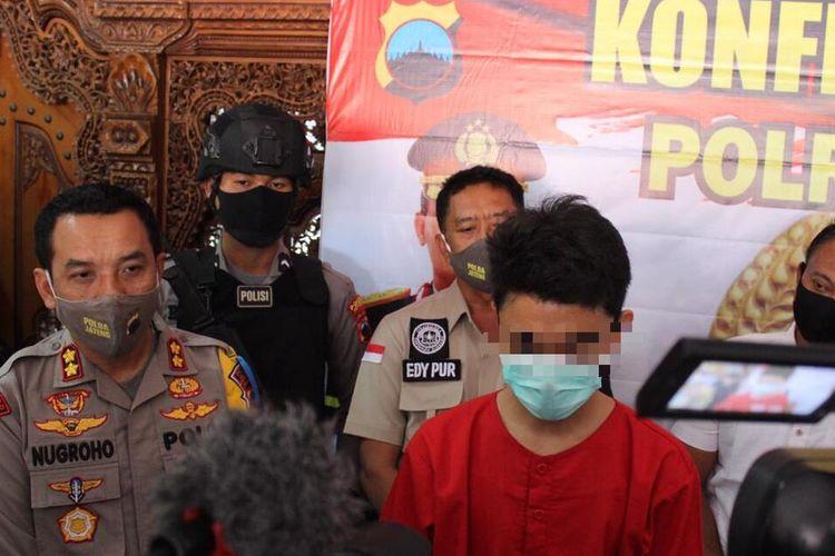Brownies Ganja (Marijuana Brownies) maker Franky Ervan Setiawan (24) in police custody at Jepara, Central Java