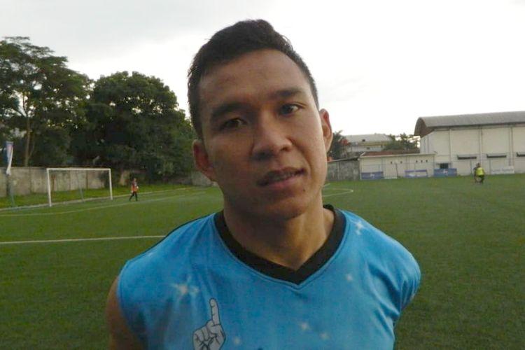 Gelandang PSMS erwin Ramdani saat ditemui di Lapangan Lodaya, Jumat (28/12/2018)