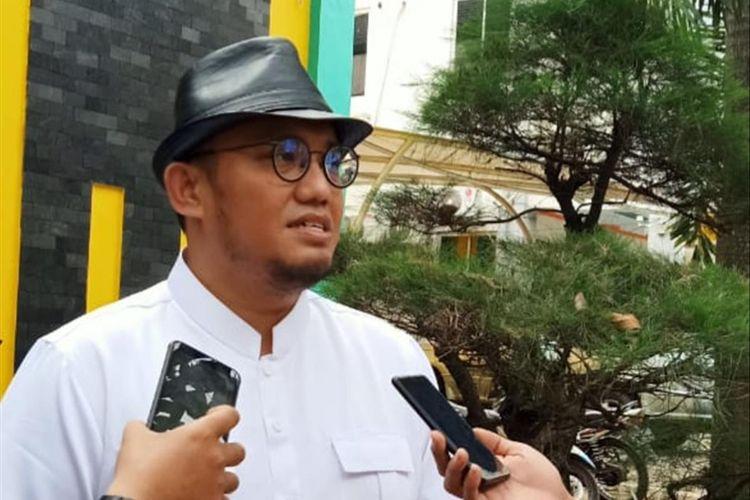Juru bicara BPN Dahnil Anzar Simanjuntak saat berada di Kampus Untirta Kota Serang Senin (1/7/2019)