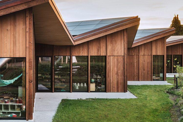 Salah satu contoh bangunan rendah karbon di Swiss