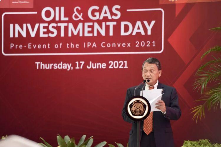 Menteri Energi dan Sumber Daya Mineral (ESDM) Arifin Tasrif dalam acara Oil And Gas Investment Day pada Kamis (17/6/2021).