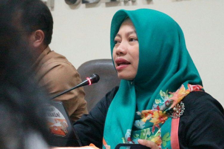 Direktur Eksekutif Perkumpulan untuk Pemilu dan Demokrasi (Perludem), Titi Anggraini dalam diskusi di Kantor Bawaslu RI, Jakarta, Rabu (21/3/2018).