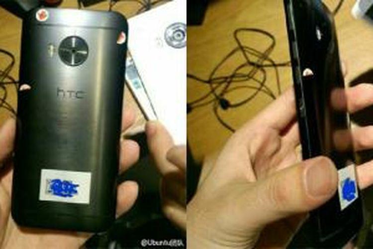 Perangkat yang disinyalir merupakan HTC One M9 Plus dalam bocoran foto