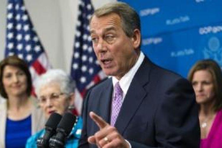 Ketua DPR AS John Boehner hari Minggu (6/10) mengatakan persetujuan anggaran tergantung pada kesediaan Presiden Obama untuk berunding