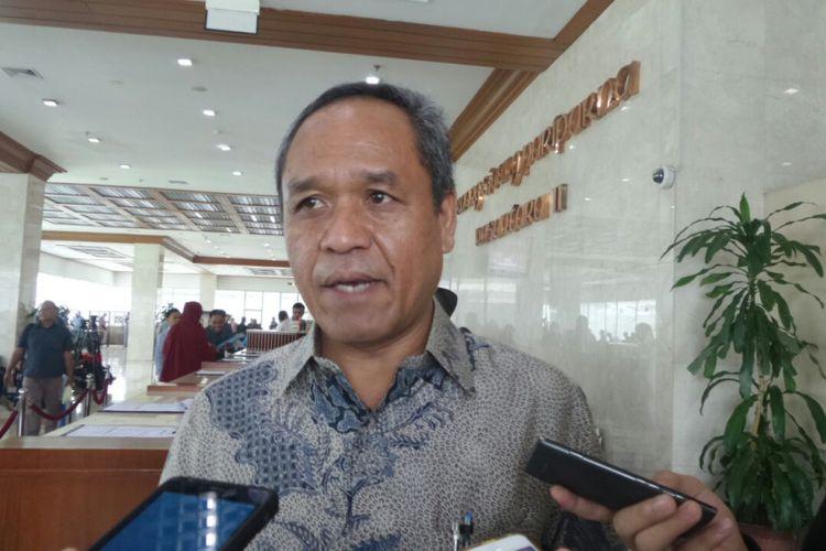 Wakil Ketua Komisi III DPR Benny Kabur Harman di Kompleks Parlemen, Senayan, Jakarta, Kamis (6/7/2017)