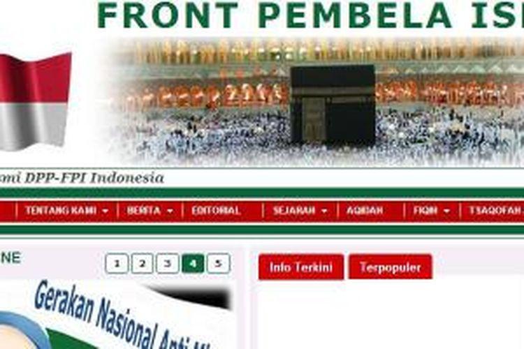 Situs web Forum Pembela Islam.