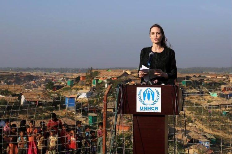 Angelina Jolie kunjungi pengungsi Rohingya di Bangladesh