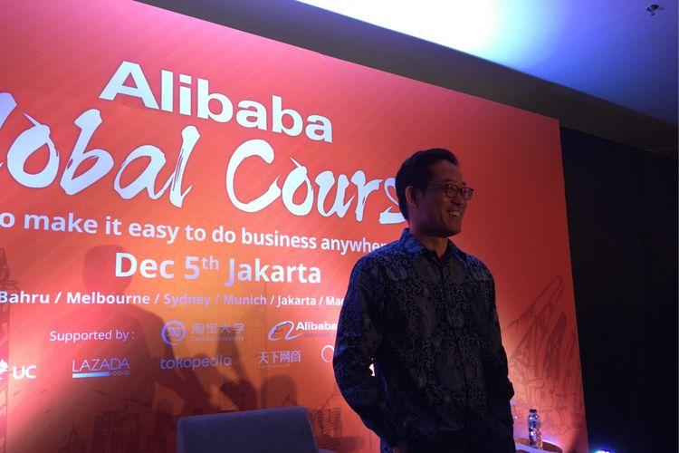 Vice President Alibaba Group Brian Wong saat ditemui di Ballroom Ritz Carlton, Jakarta Selatan, Selasa (5/12/2017).