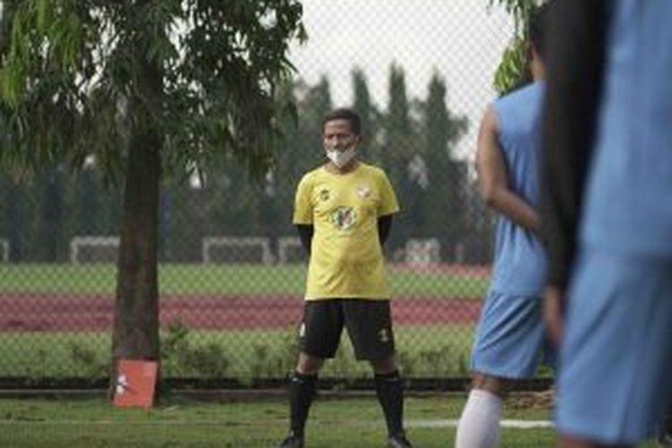 Barito Putera gelar latihan perdana di Lapangan UNY, Daerah Istimewa Yogyakarta, Senin (8/3/2021), yang berlangsung tertutup. Foto: DOK. HO/Baritoputera.co.id