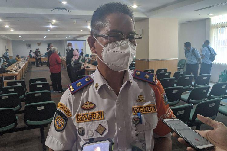 Kepala Dinas Perhubungan DKI Jakarta Syafrin Liputo saat ditemui di Gedung DPRD DKI Jakarta, Rabu (25/11/2020)